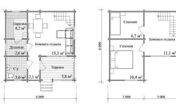 banya-iz-brusa-6×6-s-mansardoi-planirovka