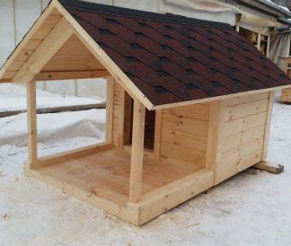 Будка для большой собаки деревянная