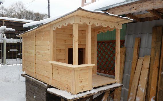 Будка для средней собаки деревянная