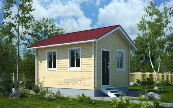 Дачный дом из бруса «Родничок-1» 2х3м 6м²