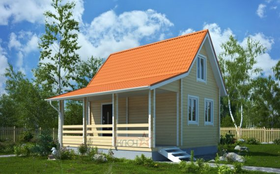 Дачный дом из бруса «Солнечный» 6х4м 58м²