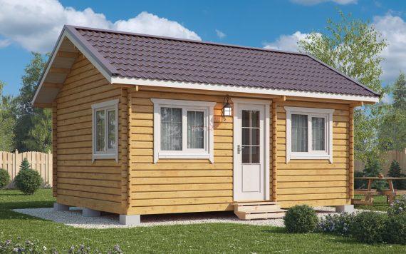 Дачный домик 4,5х6м из бруса