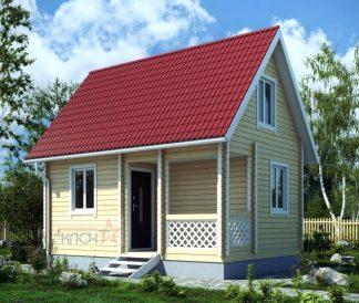 Дачный дом из бруса №5 5х4м с мансардой