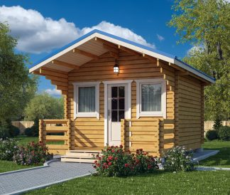 Дачный дом из бруса «Летний Вечер» 5,5х4м 22м²