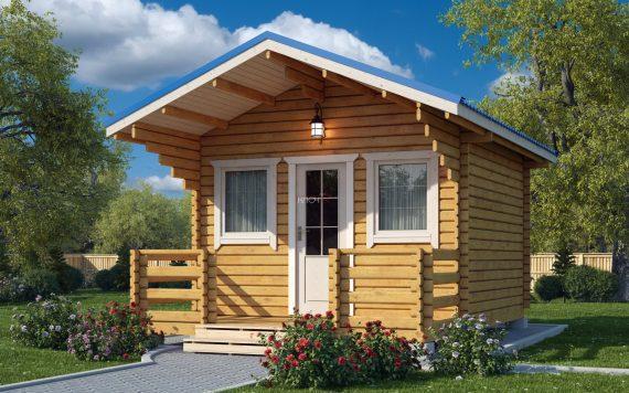 Дачный домик 5,5х4м из бруса