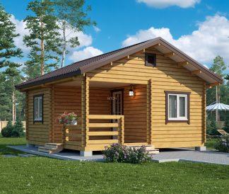 Дачный дом из бруса «Мари» 5,5х6м 33м²