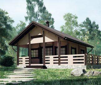 Дачный домик 6х6м из бруса «Прованс»