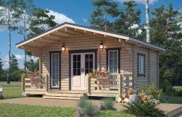Дачный дом «Летний вечер-2» 6х6м
