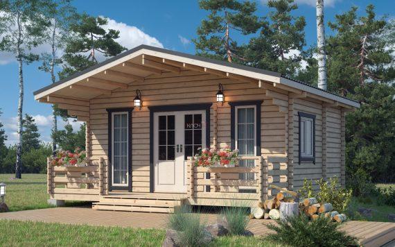 Дачный домик 6х6м из бруса