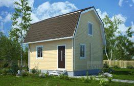 Дачный дом №7 6х4м с мансардой
