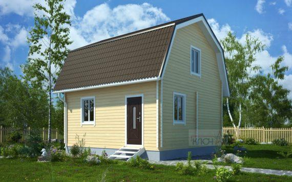Дачный дом из бруса «Нива» 6х4м 48м²