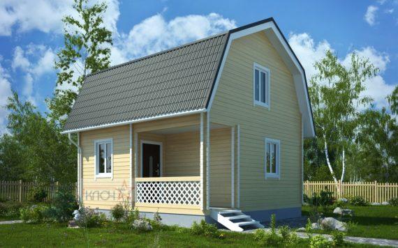 Дачный дом из бруса «Внуково» 6х4м 48м²