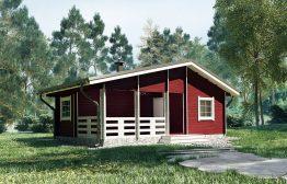 Дачный дом «Вишнёвый Сад» 8х5,5м