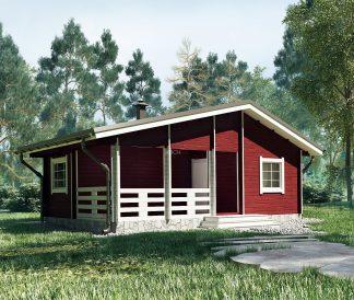 Дачный дом «Вишнёвый Сад» 8х5,5м 41м²