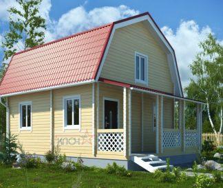 Дачный дом из бруса «Радуга» 6х4м 60м²