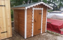 Детский домик деревянный №2 1,5х1,5м