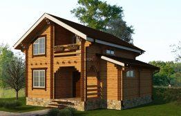 Дом из двойного бруса «Эстерсунд»7,5Х7,5м 97 м²