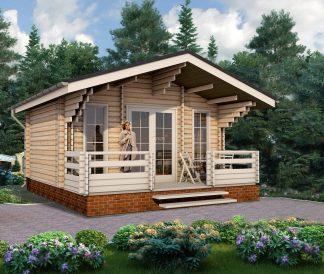 Дом из двойного бруса «Ивало» 6Х4,7м 28 м²
