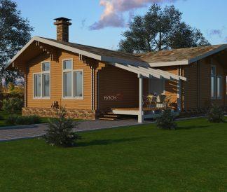 Дом из двойного бруса»Кинешма»11,1Х9м 100м²