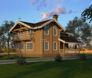 Дом из двойного бруса «Кострома» 9х9м 150м²