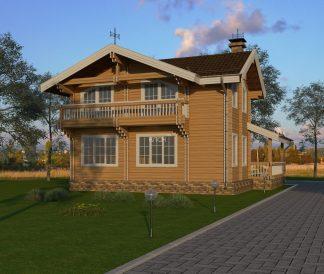 Дом из двойного бруса «Кострома» 9х9м 120м²