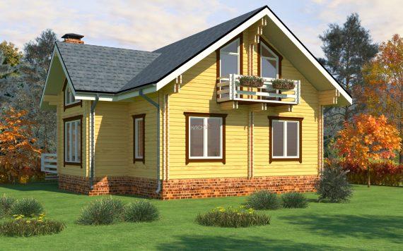 Дом из двойного бруса «Лахти» 9,9Х8,6м 158м²
