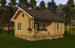 Дом из двойного бруса «Ларвик» 6Х8,59м 51м²