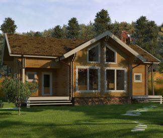 Дом из двойного бруса «Миккели» 11,9х8,4м  156м²