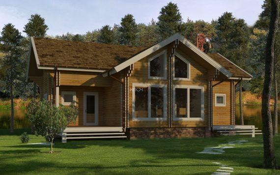 Дом из двойного бруса «Миккели» 11,9Х8,4м