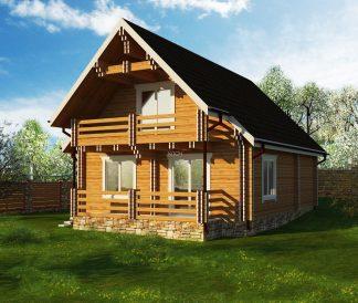 Дом из двойного бруса «Нерль» 10,2х9,3м 151м²