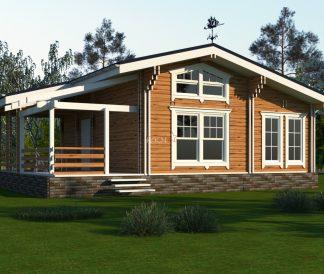 Дом из двойного бруса «Осло» 9,9Х9м 89 м²