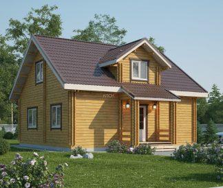 Дом из двойного бруса «Турку» 8Х8м 128м²