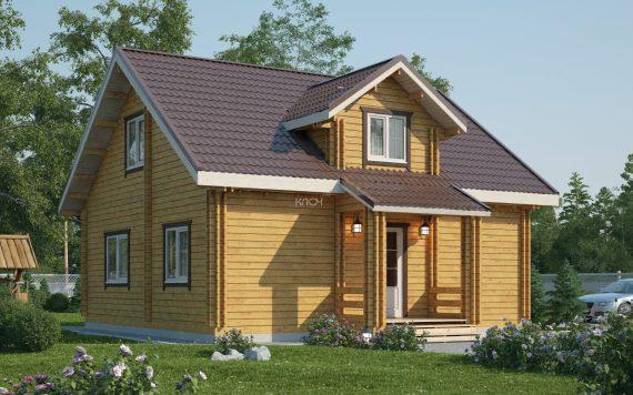 Дом из двойного бруса «Турку» 8Х8м 107 м²