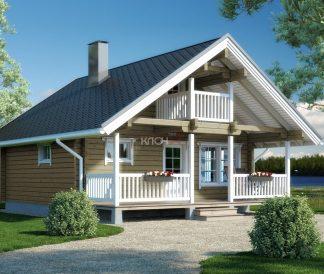 Дом из клееного бруса «Кемь» 7.0х6.5м 56м²