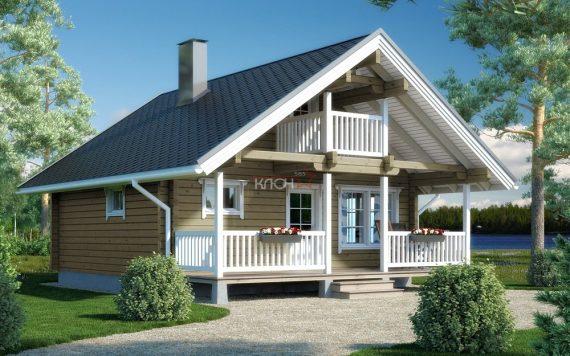 Дом из клееного бруса «Кемь» 7.0х6.5м