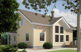 Дом из клееного бруса «Кондопога» 9,6х12м 172м²