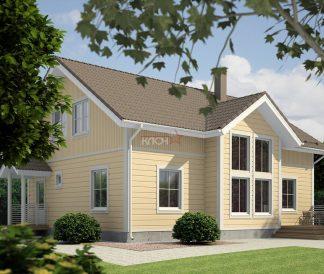 Дом из клееного бруса «Кондопога» 9,6х12м