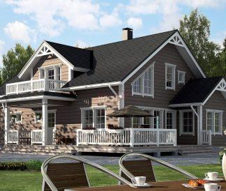 Дом из клееного бруса «Лоухи» 9.0х13.0м