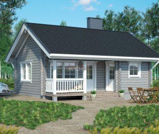 Дом из клееного бруса «Ондозеро» 7.25х6.0м