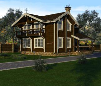 Дом из клееного бруса «Онега» 7.0х6.5м