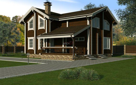 Дом из клееного бруса «Онега» 9х9м 150м²