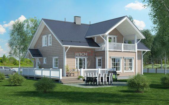 Дом из клееного бруса «Повенец» 13.3х12.7м