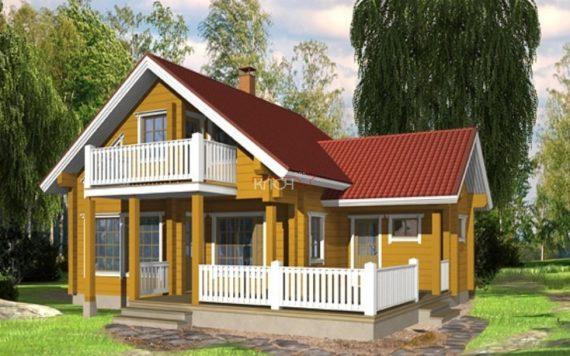 Дом из клееного бруса «Сегежа» 8.78х11.18м