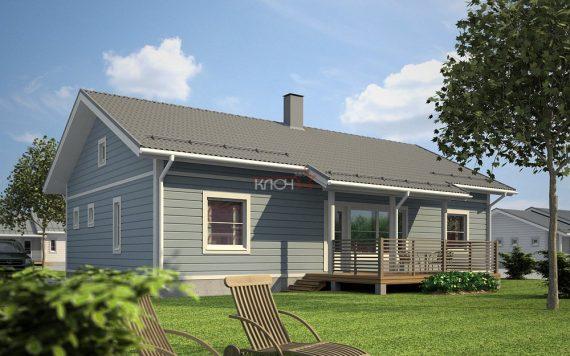 Дом из клееного бруса «Сортавала» 9.0х14.0м  125м²