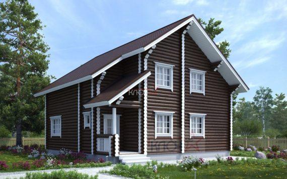 Дом из оцилиндрованного бревна 10х10м
