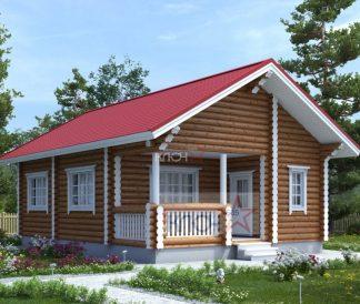 Дом из оцилиндрованного бревна 10х7м