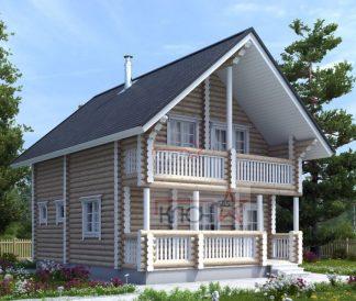 Дом из оцилиндрованного бревна 7х9м