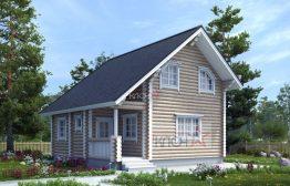 Дом из оцилиндрованного бревна 8х8м