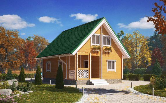 Дом из профилированного бруса «Богатырь» 6х7,5м 90м²