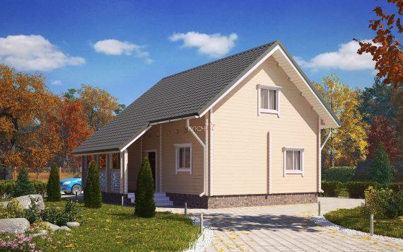 Дом из профилированного бруса «Княжич» 6х8м 99м²